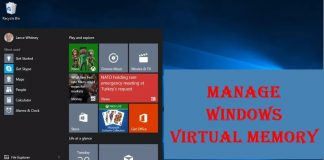 How To Manage Windows Virtual Memory from Setting