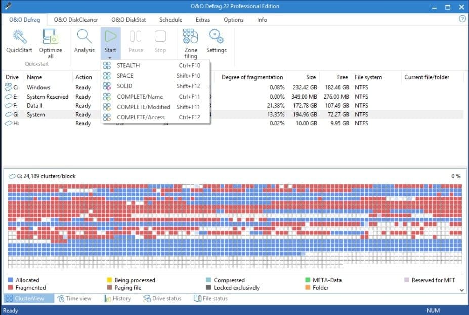 O&O Defrag the best defrag software in drive utility