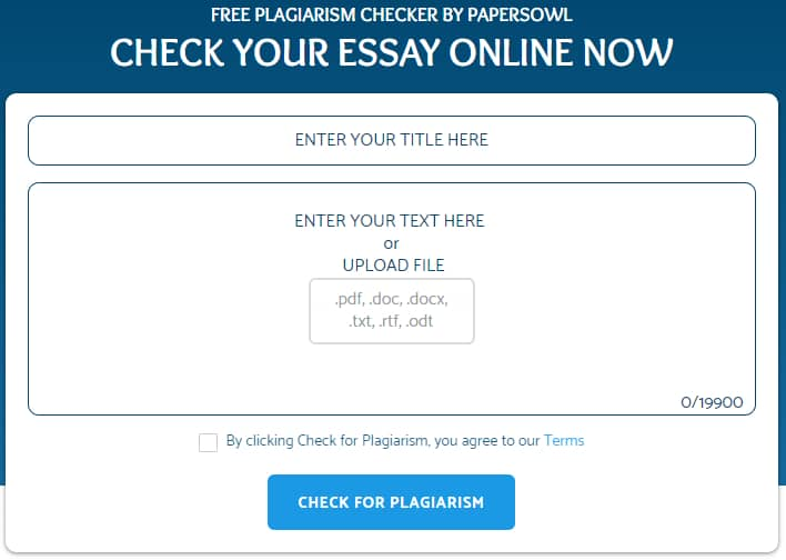Papers Owl Online Plagiarism Checker