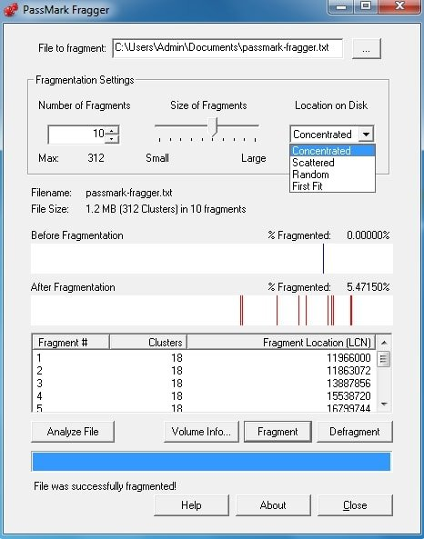 PassMark Fragger the best defrag software in drive utility