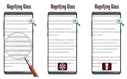 A magnifying glass with light - Magnifier