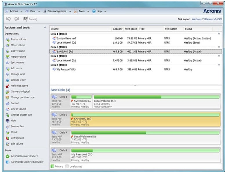 Acronis Disk Director 12