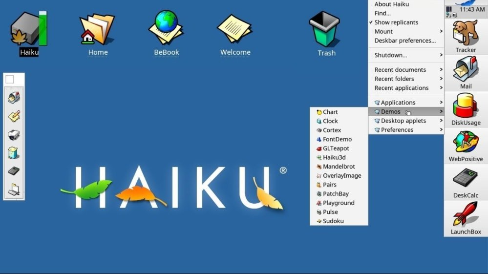 Open Source Operating System Haiku OS