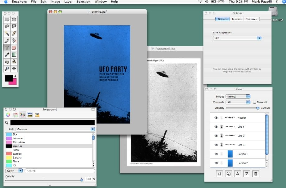 Seashore is a lightweight open-source Photoshop alternative that does not surprise you with lots of advanced tools.