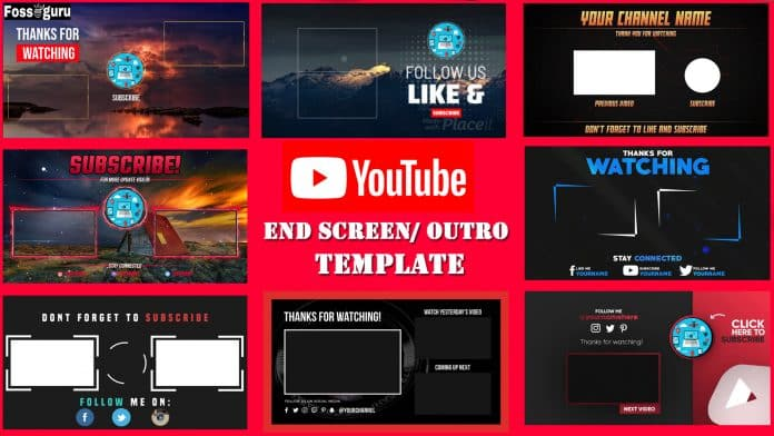 Free YouTube End Screen Template Outro Makers