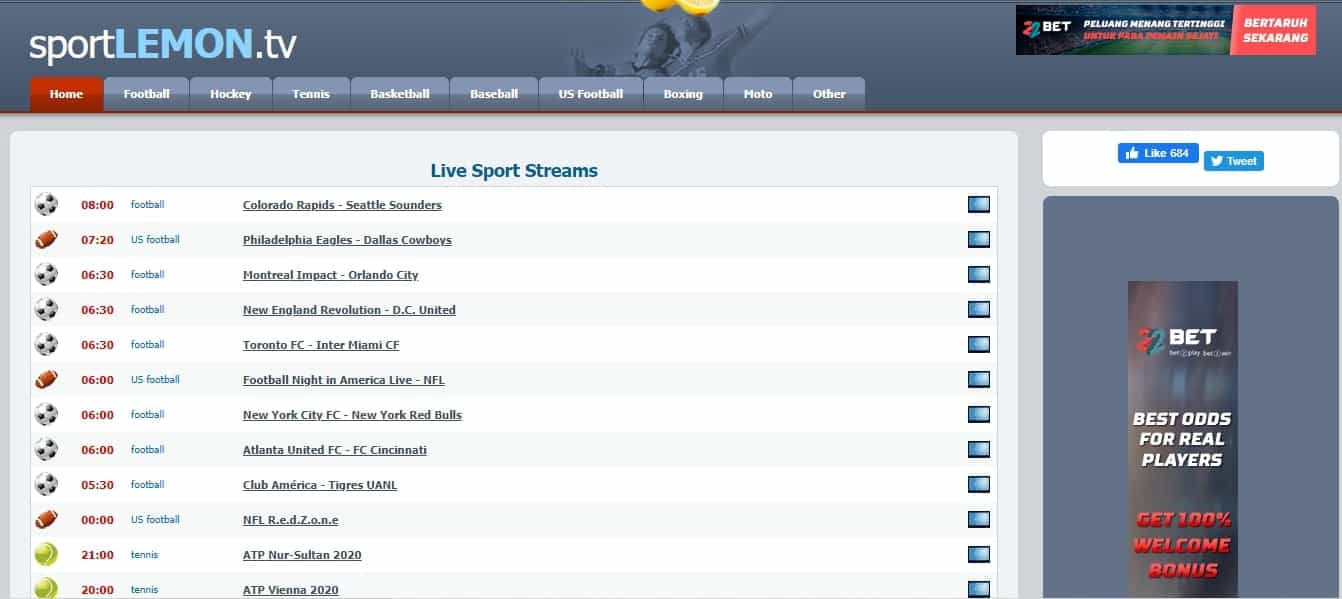 Sport Lemons firstrowsports alternative sites