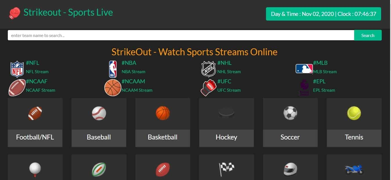 StrikeOut firstrowsports alternatives