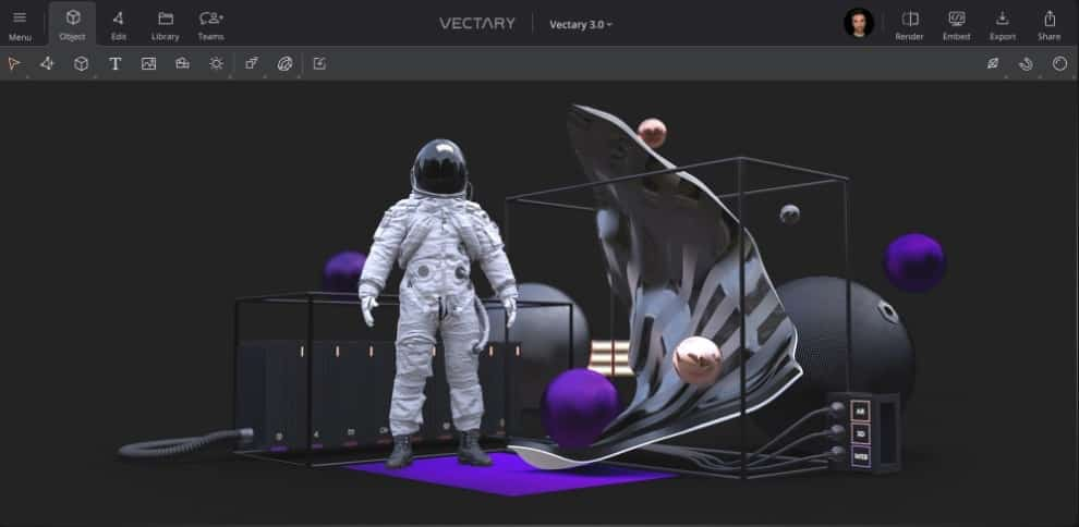 Vectary to convert 2d image to 3d Online