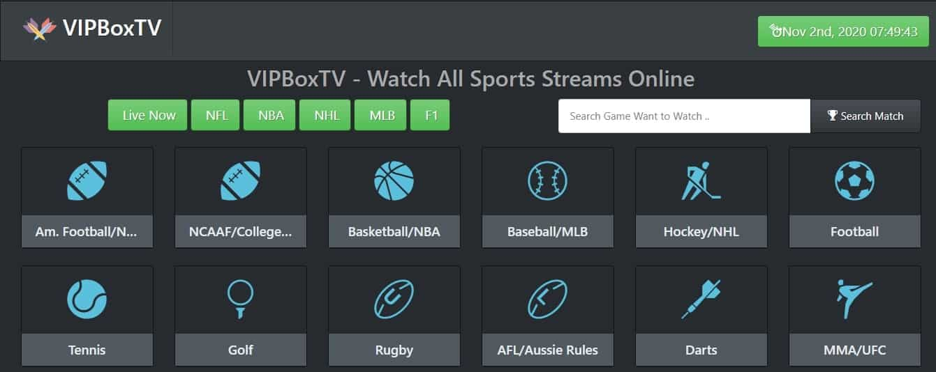VipBoxTV websites like first row sports