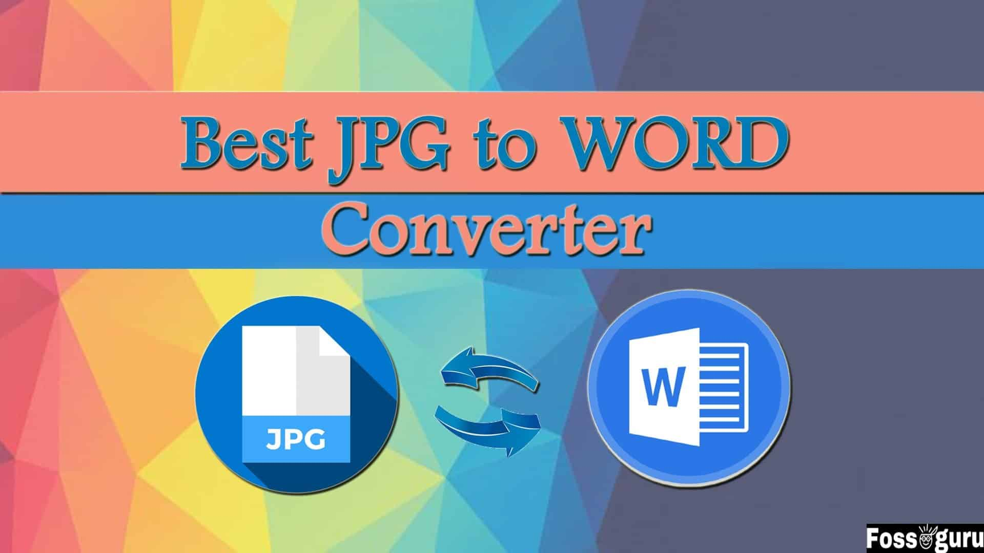 JPG to Word Converter Online For Image to Doc