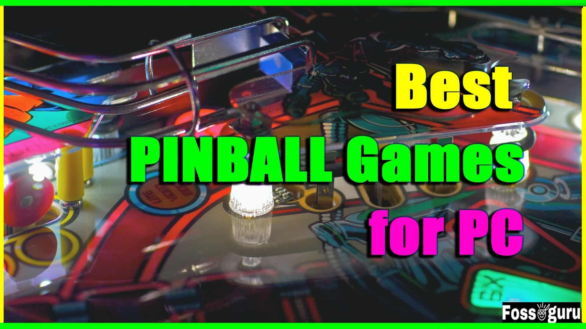 pinball games for pc