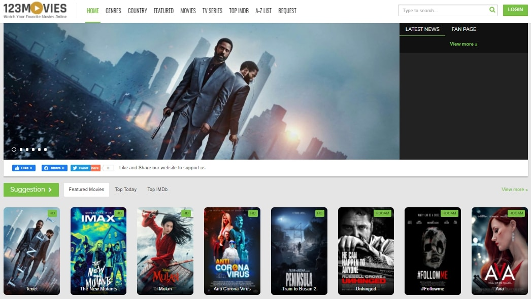 123Movies lucrative website to stream movies for free that may you like.