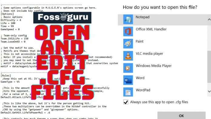 CFG File Extension