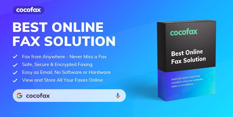 Qualities of CocoFax to Faxes Online via Computer