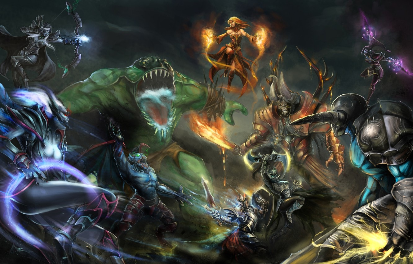 multiplayer online battle arena: Defense of the Ancients (DOTA)