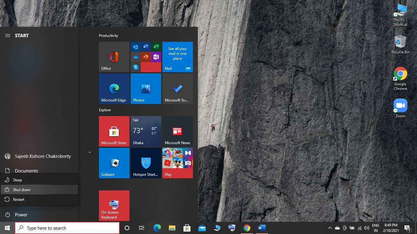 How to Reboot Windows 10