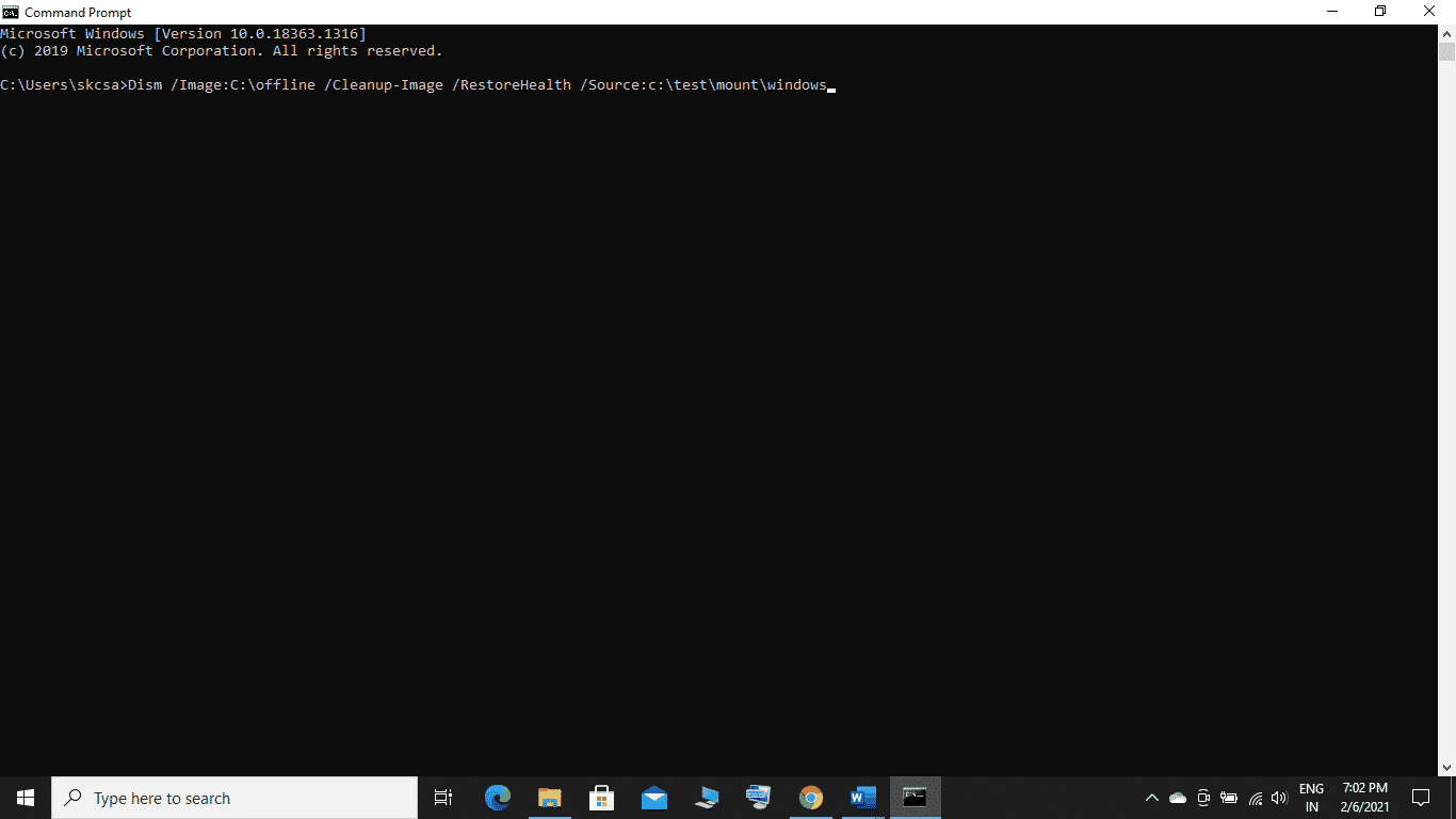 Now, you know how to run the DISM command on Windows through the command prompt.