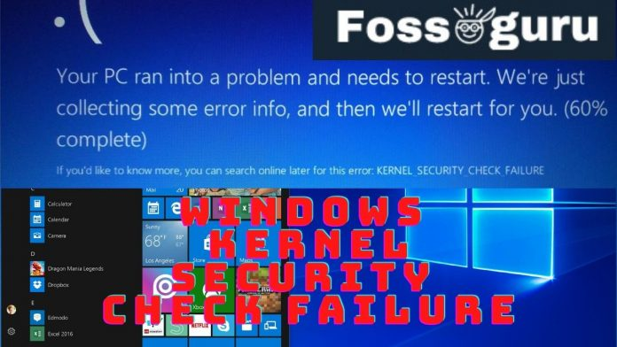 Windows Kernel Security Check Failure Why and How to Fix?