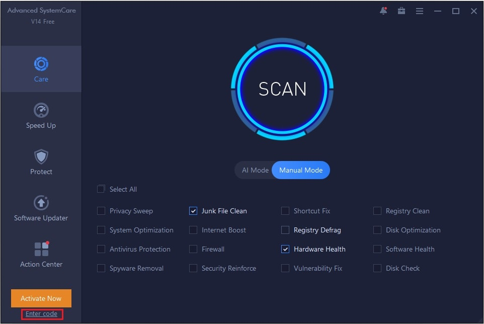 Advanced SystemCare free malware removal software
