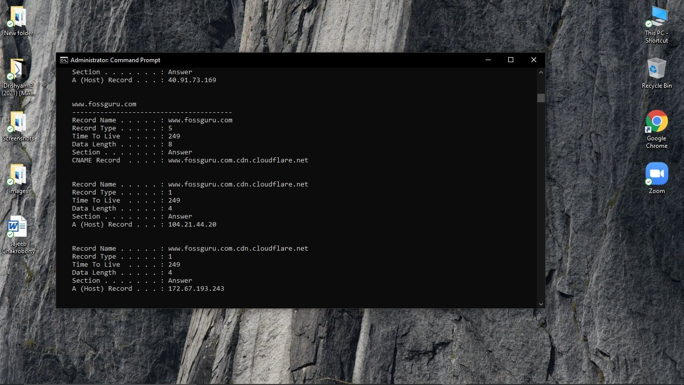 Recover History Using the Command Prompt app