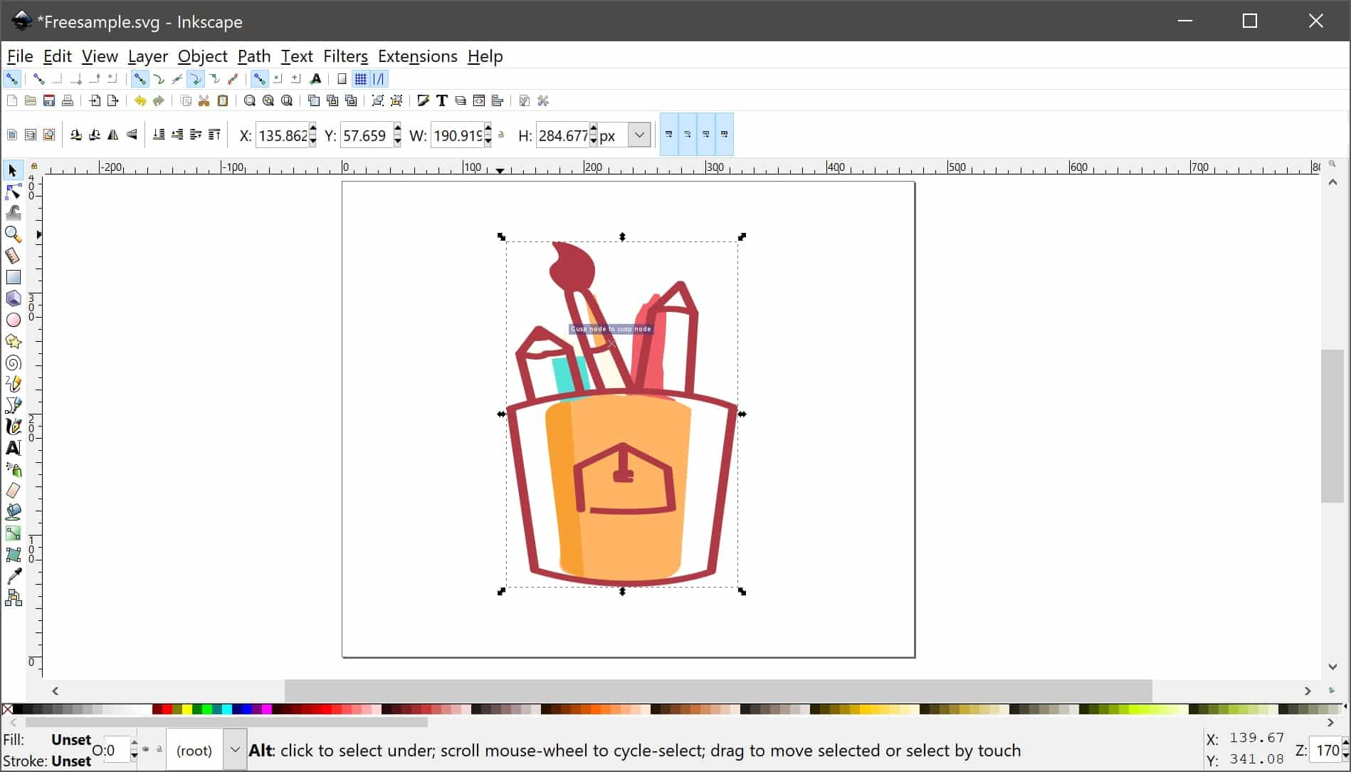 Inkscape is an open-source Procreate alternative that is available for Windows and Linux.