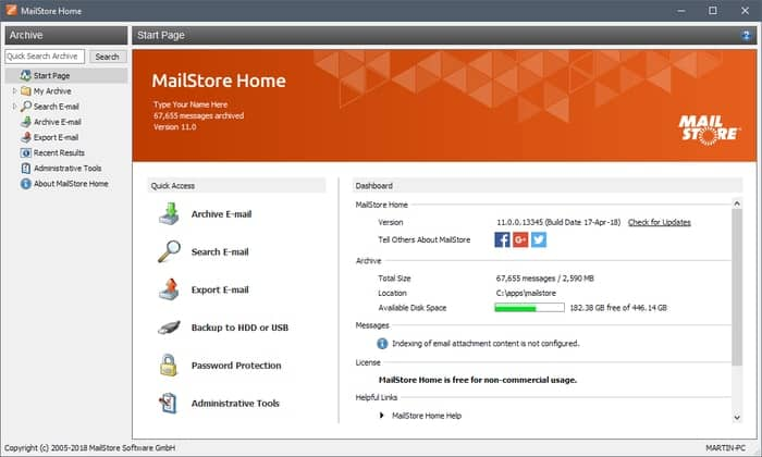 Email Backup Software Mailstore Home
