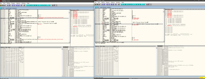 OllyDbg is a top-rated free to use x86 debugging software.