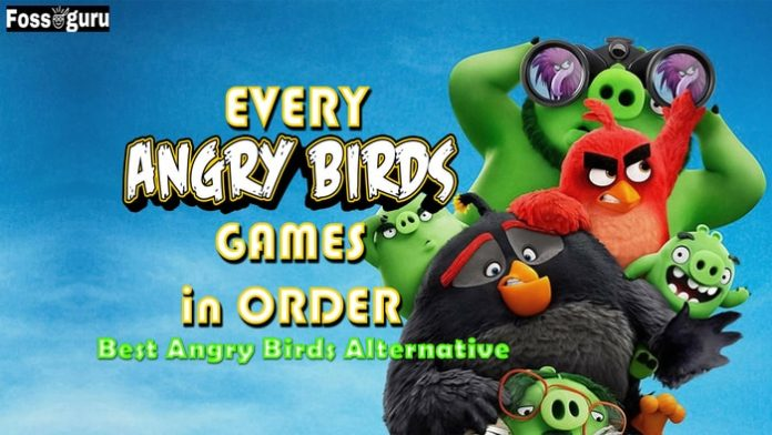 All angry birds game in order and angry birds alternatives