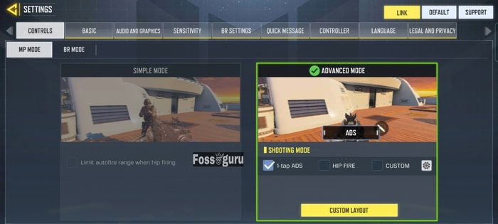 COD Mobile settings and controls Getting ready to play