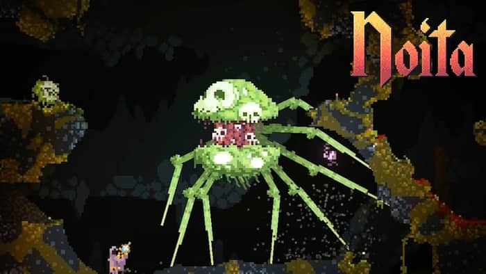 Noita is a rouge-like dungeon crawler game for PC.