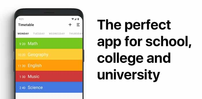 Class Timetable best timetable app